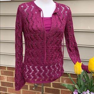 Loft  Crochet Sweater